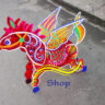 Lồng đèn giấy kiếng con ngựa có cánh