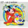 Lồng đèn nhựa 3D chuột Mickey