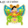 Lồng đèn nhựa 3D con bướm mẫu 2