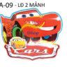 Lồng đèn nhựa 3D Lightning McQueen