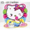 Lồng đèn nhựa 3D mèo Kitty mẫu 1