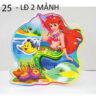 Lồng đèn nhựa 3D nàng tiên cá