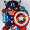 Lồng đèn nhựa Captain America
