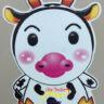 Lồng đèn nhựa con bò sữa