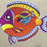 Lồng đèn nhựa con cá mẫu 1