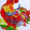 Lồng đèn nhựa con gà